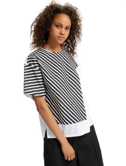 Geometric Overlay Poplin T-shirt Sportmax