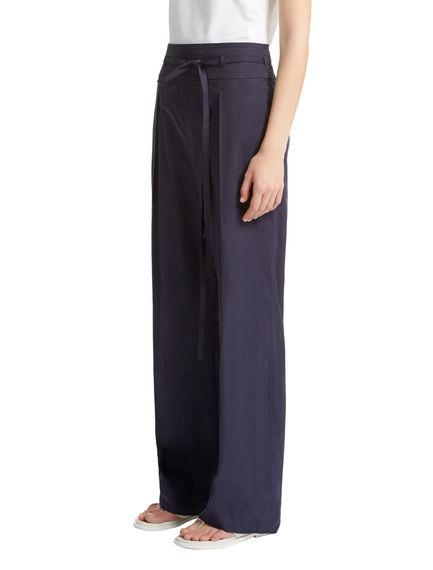 Tie Waist Poplin Trousers