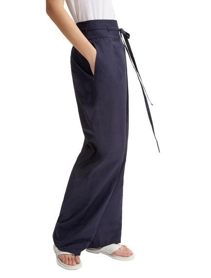 Tie Waist Poplin Trousers Sportmax