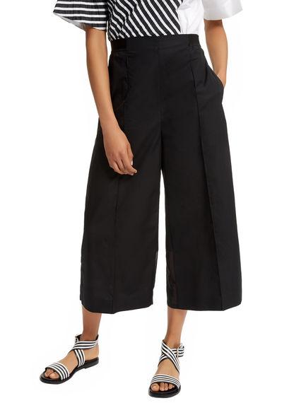 Poplin & Organza Cropped Trousers Sportmax