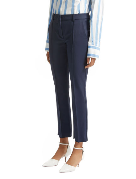 Stretch Cotton Cropped Trousers