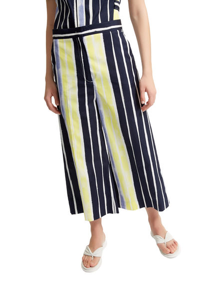 Pantaloni cropped in popeline a righe Sportmax