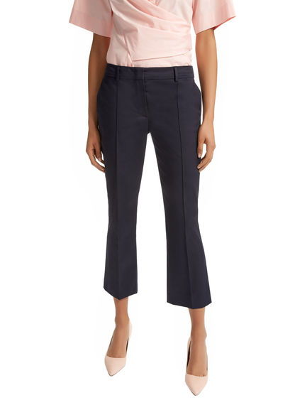 Sartorial Cropped Gabardine Trousers Sportmax