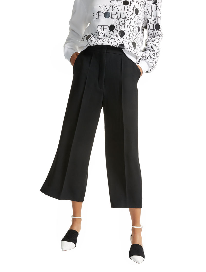 wide leg cropped pants - Black Sportmax Xlw29PRG0