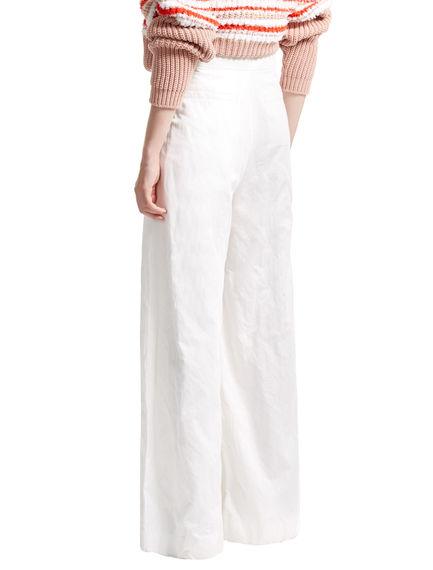 Metallic Cotton Palazzo Trousers