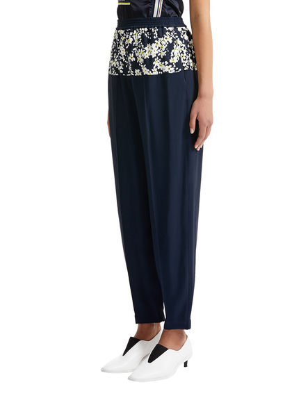 One-of-a-kind Navy & Cherry Blossom Jogging Trousers Sportmax