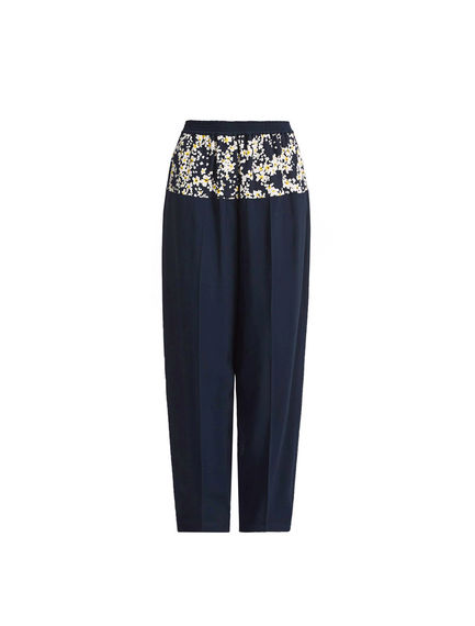One-of-a-kind Navy & Cherry Blossom Jogging Trousers
