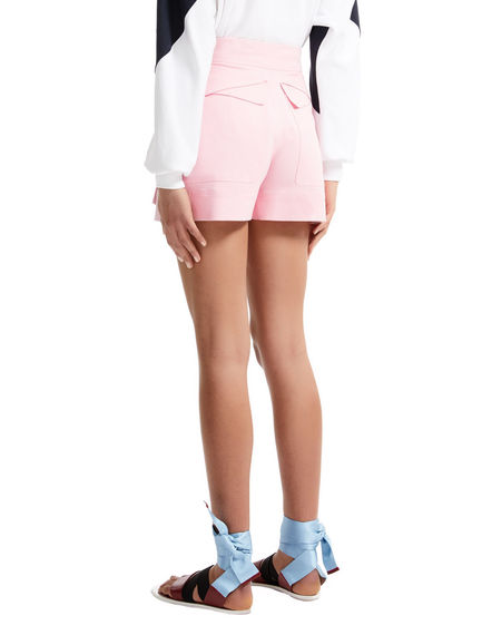 One-of-a-kind Pink Satin Shorts