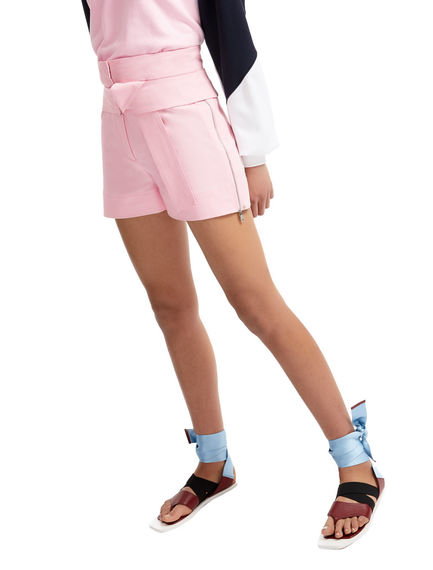 One-of-a-kind Pink Satin Shorts Sportmax