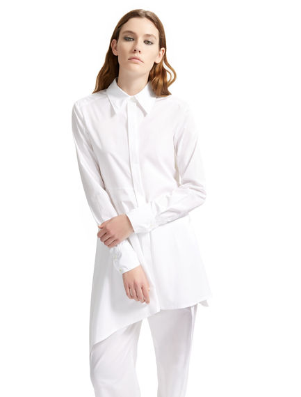 Asymmetric Poplin Shirt Dress Sportmax
