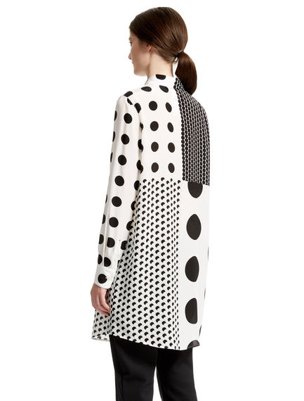 Polka Dot Silk Shirt Dress