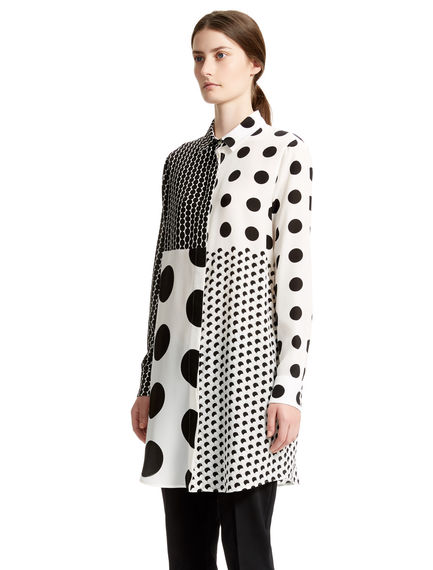 Polka Dot Silk Shirt Dress Sportmax