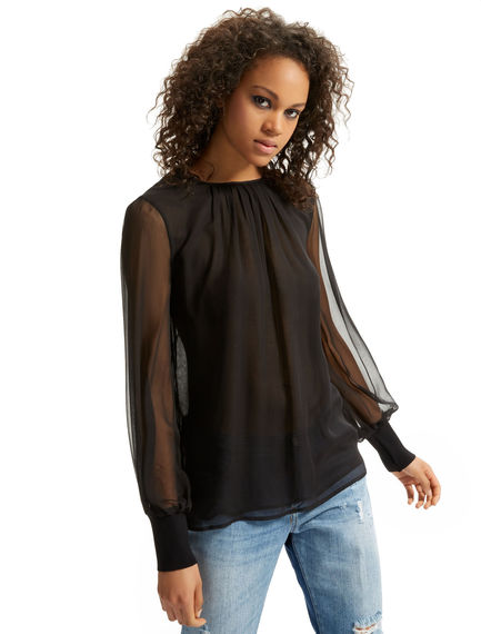 Teardrop-back Silk Blouse Sportmax