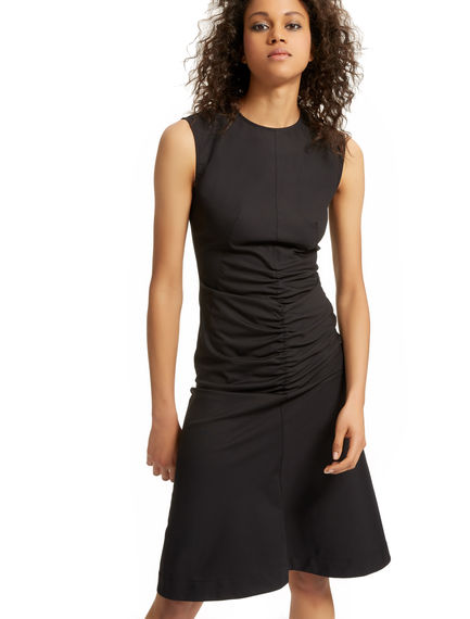 Ruched Gabardine Shift Dress Sportmax
