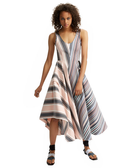Striped Cotton Maxi Dress Sportmax
