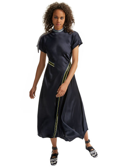 Asymmetric Gathered Satin Dress Sportmax