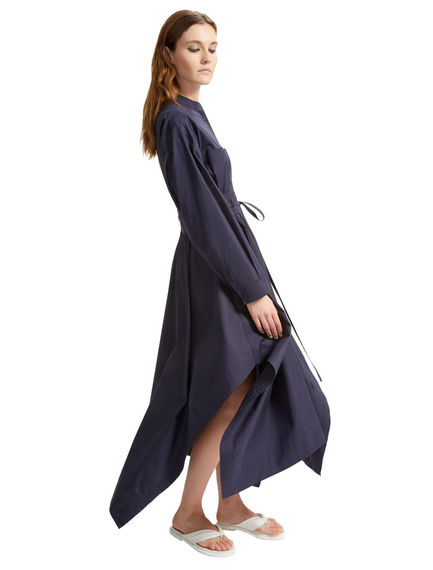 Asymmetric Poplin Maxi Dress Sportmax