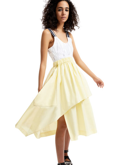 One-of-a-kind Yellow & White Dress Sportmax