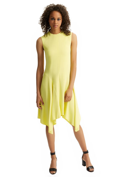 Asymmetric Hem Poplin Dress Sportmax