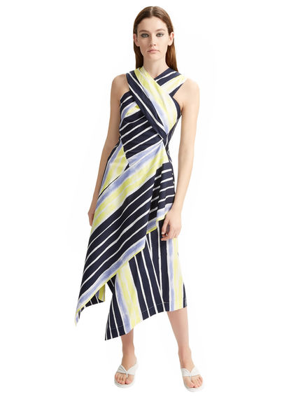Striped Cross-over Poplin Dress Sportmax