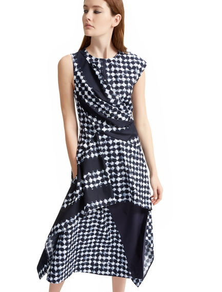 Asymmetric Printed Poplin Dress Sportmax