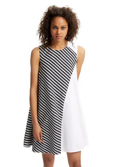 Geometric Overlay Poplin Mini Dress Sportmax