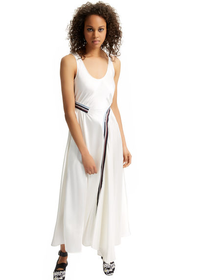 Sleeveless Gathered Satin Dress Sportmax