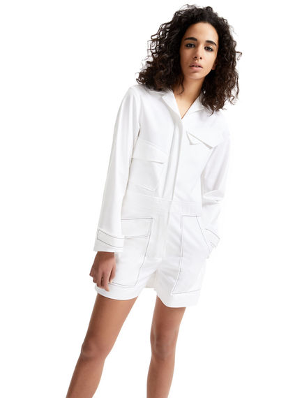 Zip-side Satin Playsuit Sportmax