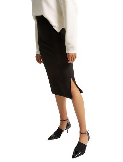 Honeycomb Stitch Tube Skirt Sportmax