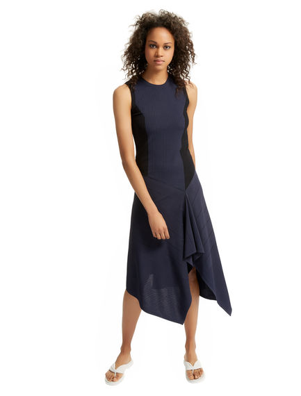 Asymmetric Knit Sculptural Dress Sportmax