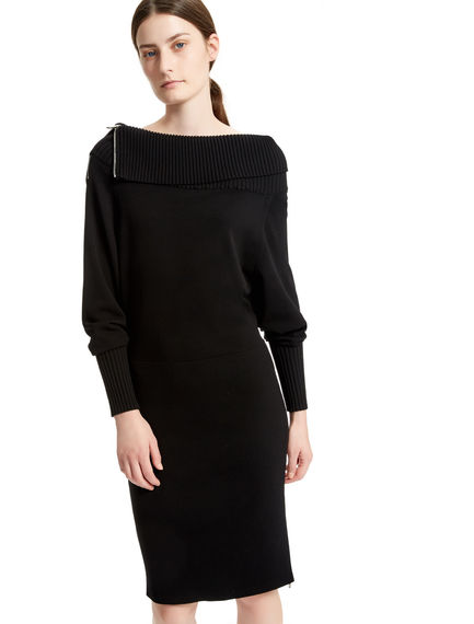Knitted Viscose Zip Dress Sportmax