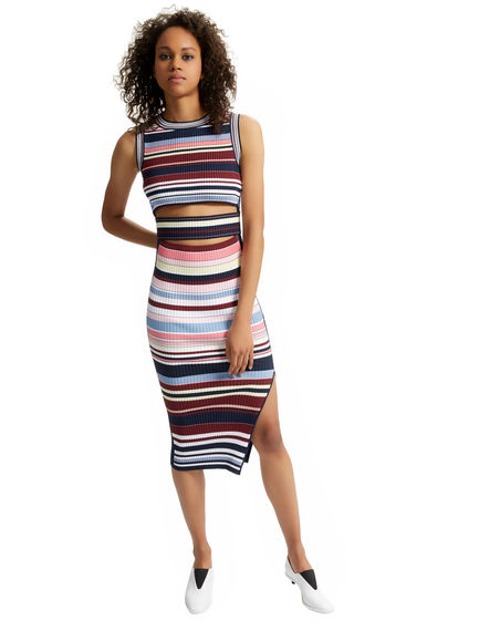Striped Deconstructed Vest Dress Sportmax