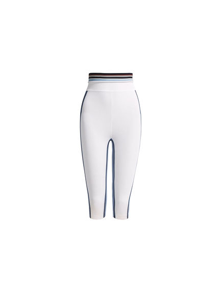 Striped Viscose Capri Leggings Sportmax