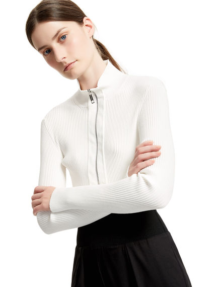 Form-fitting Cropped Cardigan Sportmax