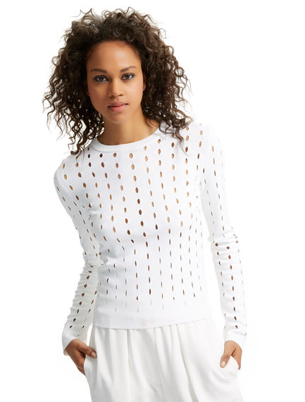 Perforated Viscose Knit Sweater Sportmax