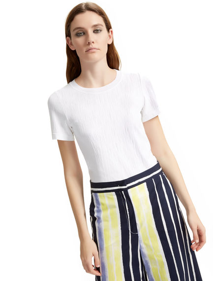 Textured Viscose T-shirt Sportmax