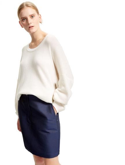 Contrast Stitch Cashmere Sweater Sportmax