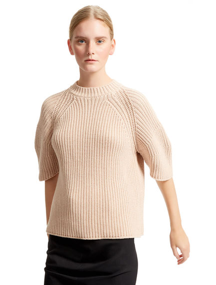 Sculptural Half Sleeve Sweater Sportmax