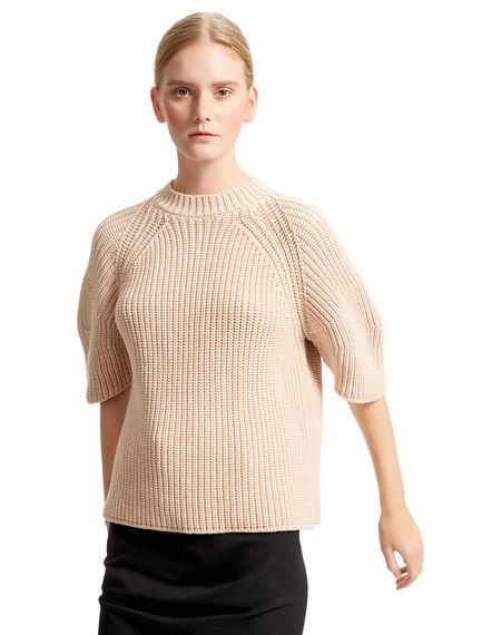 Sculptural Half Sleeve Sweater