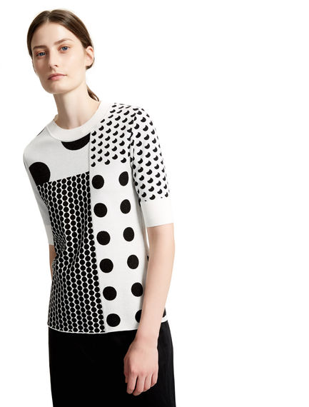 Polka Dot Jacquard Knit Top Sportmax