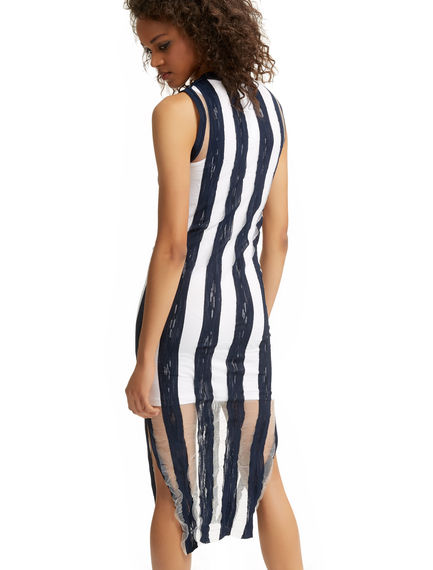Semi-sheer Stripe Knit Dress Sportmax