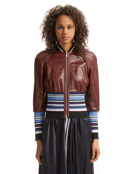 Leather & Knit Bomber Jacket Sportmax