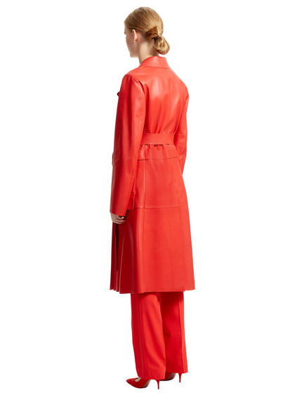 Raw-cut Nappa Trench Coat Sportmax