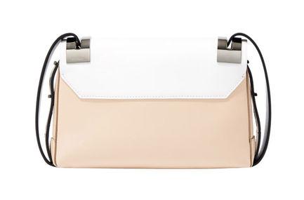 White Colour-block SM 207 Bag