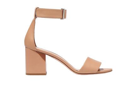 Sculptural Heel Calfskin Sandal Sportmax