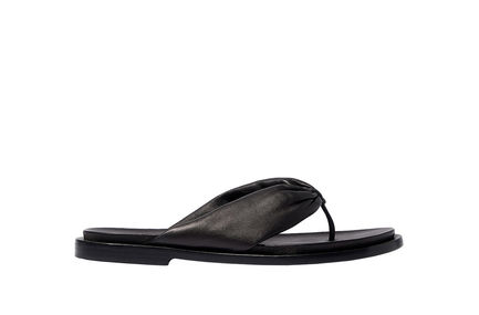 Nappa Leather Thong Sandals Sportmax