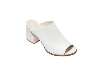 Heeled Leather Mules