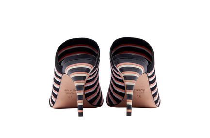 Striped Mule Stilettos