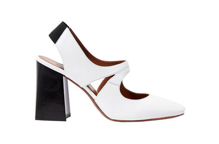 White Leather Mary Janes Sportmax