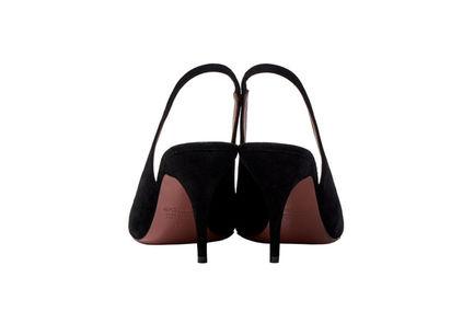 Suede Slingback Stilettos